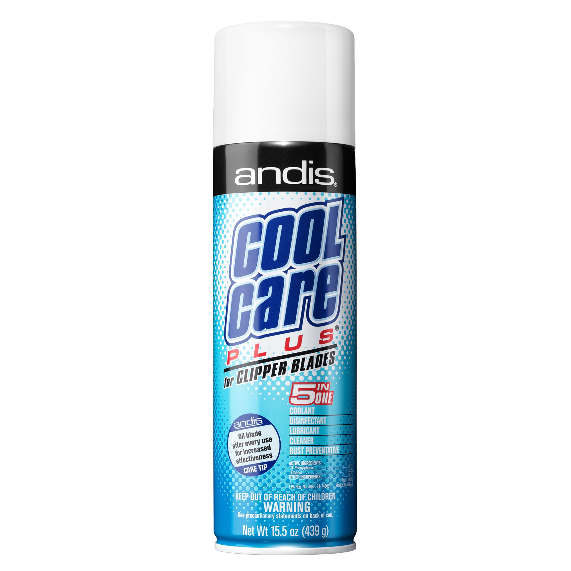 Andis Cool Care Plus Trade Clipper Blade Spray Dog Hair