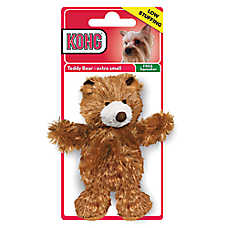 KONG® Teddy Bear Dog Toy - Plush, Squeaker