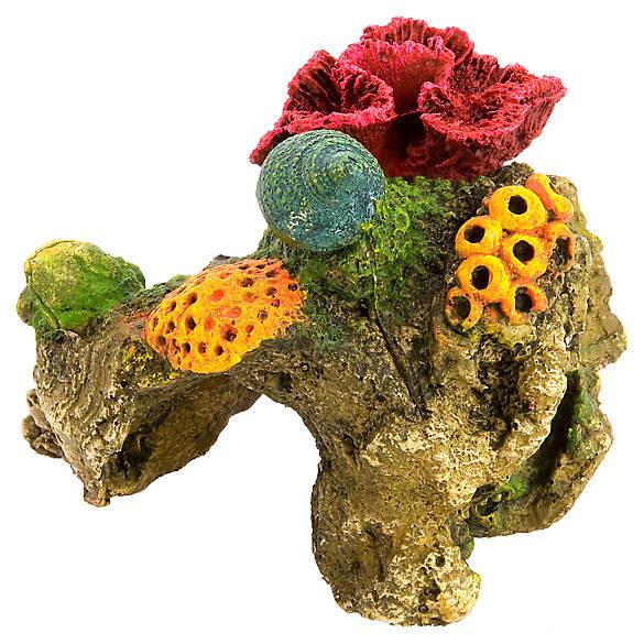 Top fin red brain coral aquarium ornament fish for Petco fish tank decor