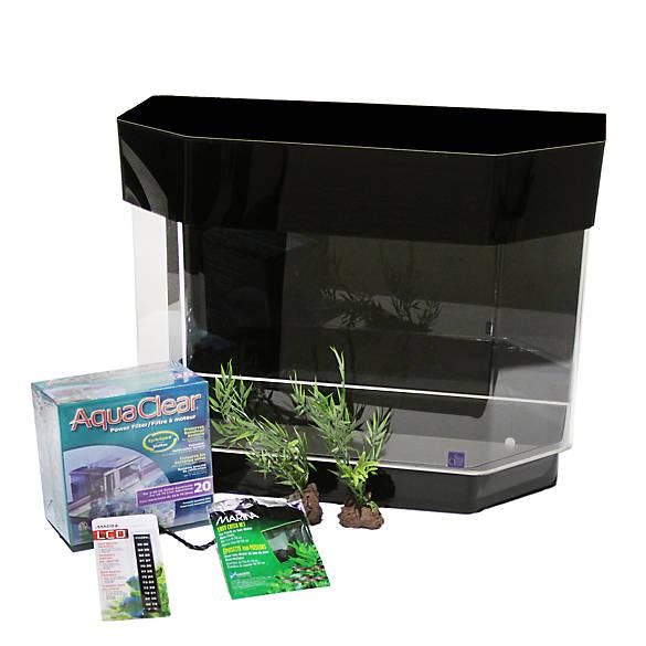 Variations. 1. Select Size. 10 Gal  sc 1 st  PetSmart & SeaClear 10 Gallon Flat Back Hexagon Aquarium Starter Kit | fish ...