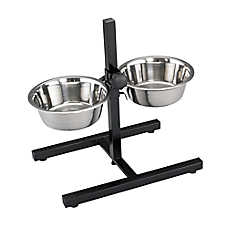 Top Paw® Adjustable Double Diner Dog Stand with Bowls