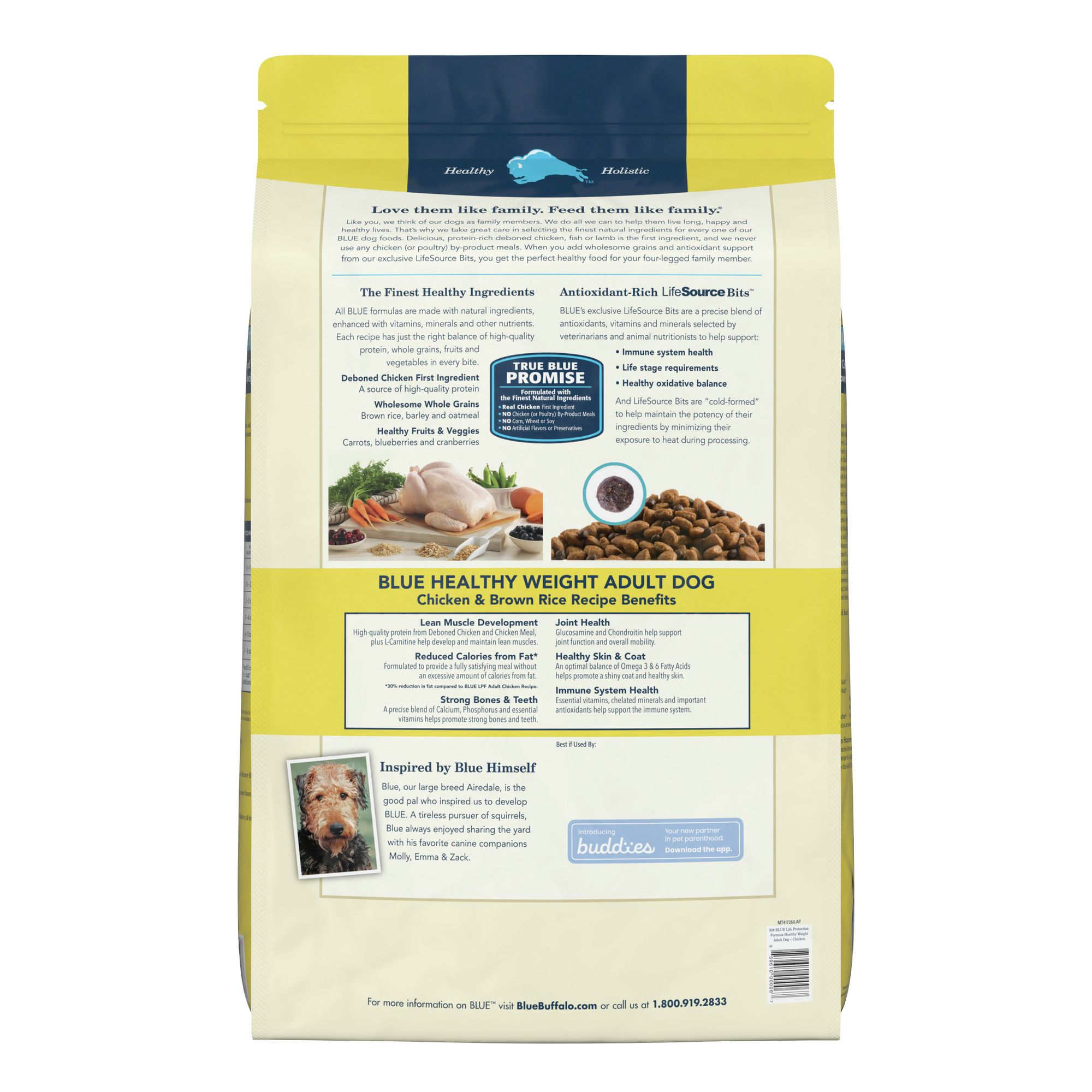 Blue Buffalo Life Protection Formula Healthy Weight Adult Dog Food Chicken Brown Rice Dog Dry Food Petsmart