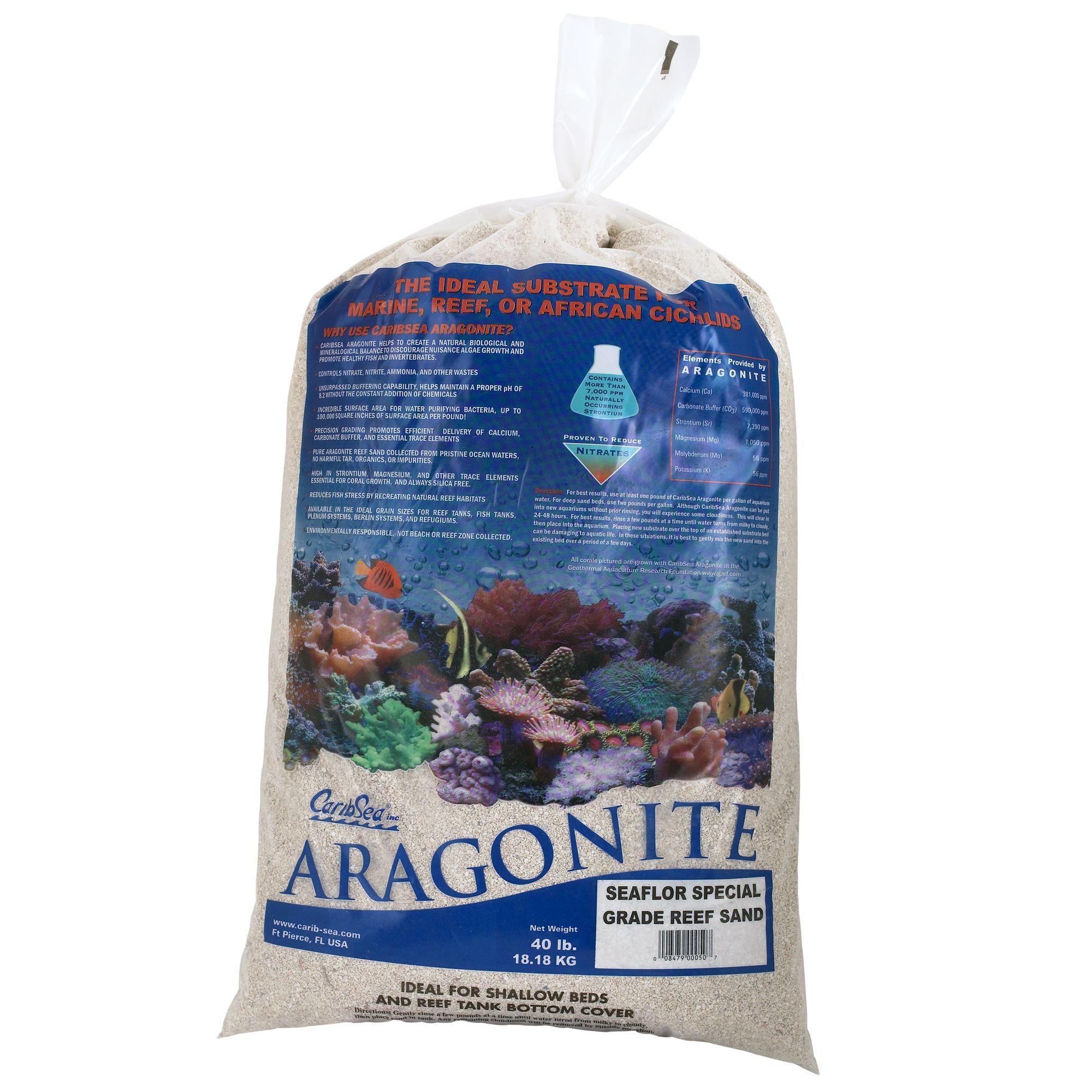 Caribsea Aragonite Aquarium Reef Sand