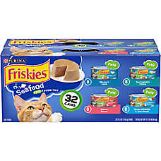 Purina® Friskies® Cat Food - Seafood, Variety Pack, 32ct