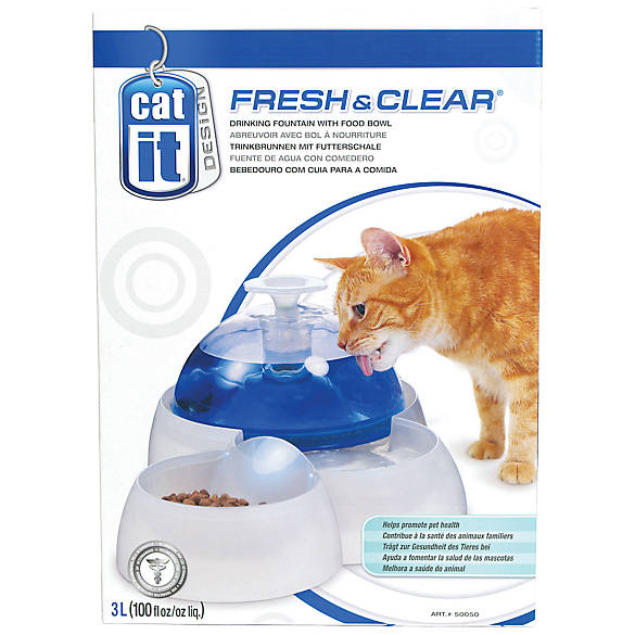 Catit Design Fresh Clear Pet Feeder Fountain Cat Food Water