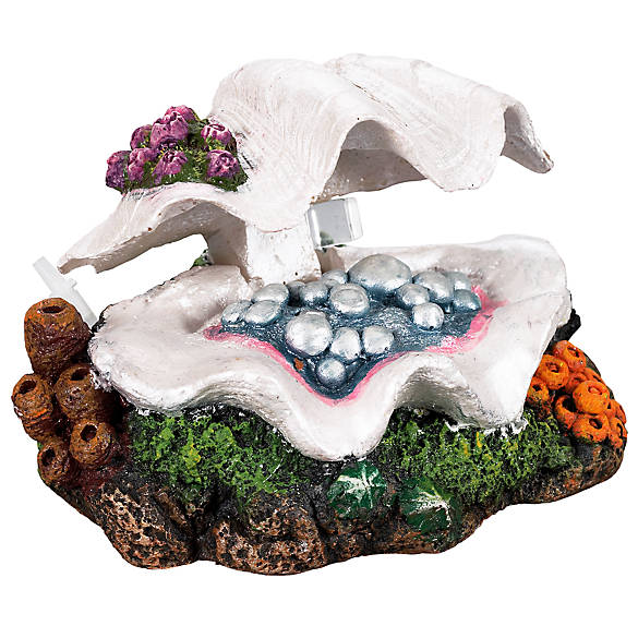 Top fin clam shell aquarium ornament fish ornaments for Petsmart fish decor