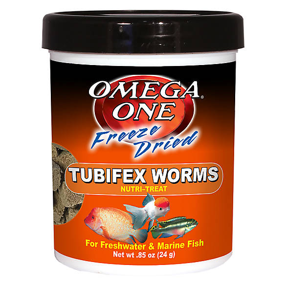 Omega™ One Freeze Dried Tubifex Worms Fish Treat | Tuggl