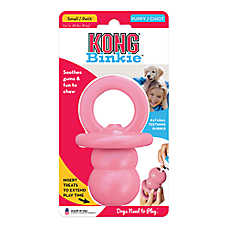 KONG® Binkie Treat Dispensing Puppy Toy (COLOR VARIES)