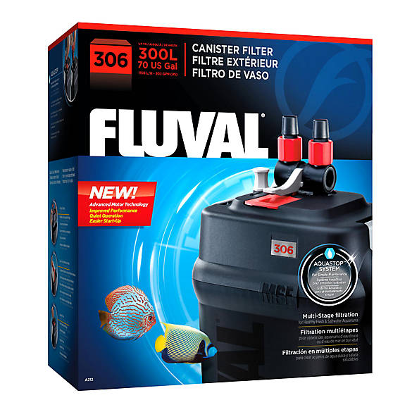 Fluval external 306 canister filter fish filters petsmart for Petsmart fish filters