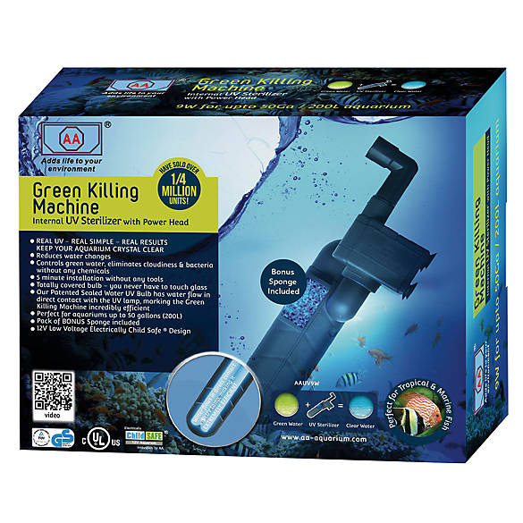 AA Aquarium Green-Killing Machine Internal Aquarium UV Sterilizer | Tuggl