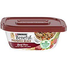 Purina® Beneful® Prepared Meals Dog Food - Beef Stew with Peas, Carrots, Rice & Barley