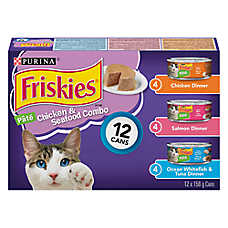 Purina® Friskies® Chicken & Seafood Combo Variety Pack Cat Food