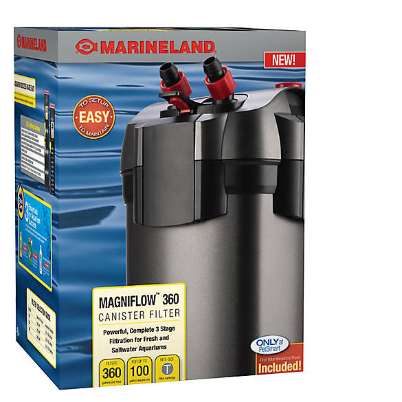 Marineland c360 canister filter fish filters petsmart for Petsmart fish filters