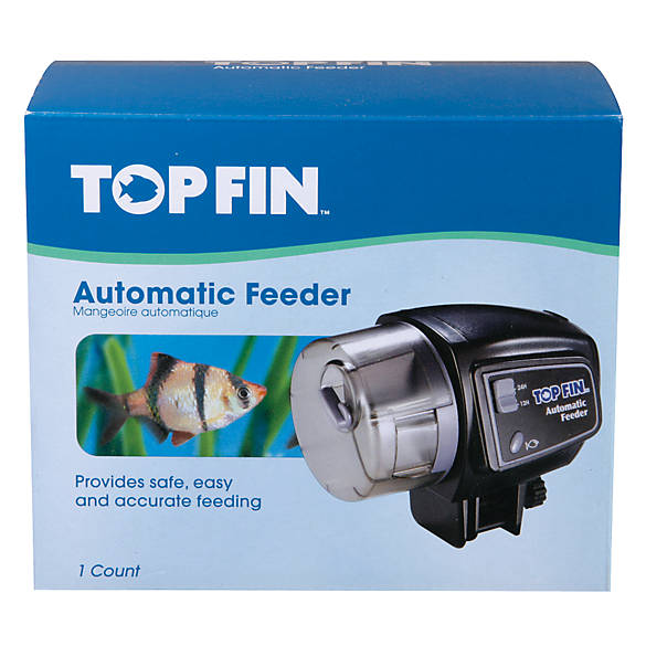 Top fin fin automatic fish feeder fish feeders petsmart for Automatic fish feeder petsmart