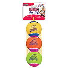 "KONG® Air Dog® ""Happy Birthday"" Tennis Ball Set Squeaker Dog Toy"