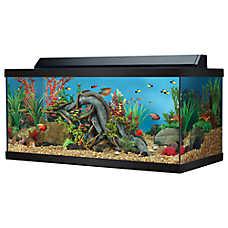 Top fin 40 gallon hooded aquarium fish aquariums petsmart for 55 gallon fish tank petsmart