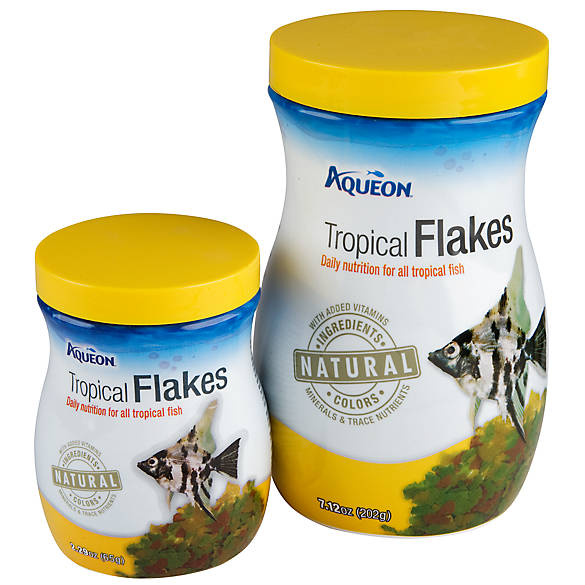 Aqueon color enhancing tropical fish flakes fish food for Purina tropical fish food