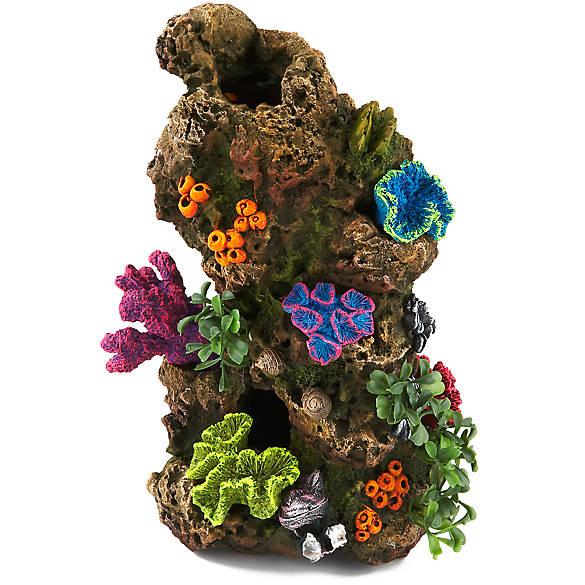 Top fin coral plant rocky aquarium ornament fish for Petsmart fish decor