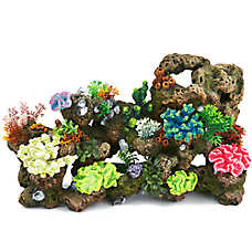 top fin stone coral bubbler aquarium ornament