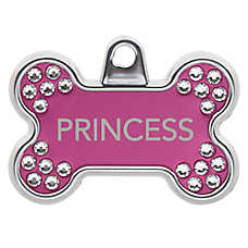 TagWorks® Blingz Collection Bone Personalized Pet ID Tag