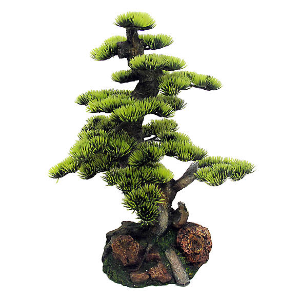 Top fin artificial bonsai tree fish artificial plants for Petsmart fish decor