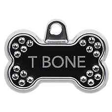00e24d8e90ea TagWorks® Blingz Collection Bone Personalized Pet ID Tag