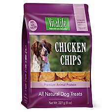 VitaLife Chicken Chips Dog Treat - Natural, Gluten Free, Chicken