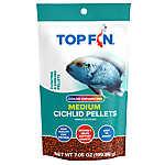Top Fin® Cichilid Color Enhancing Medium Pellets Fish Food