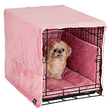Pet Dreams Plush Cratewear Dog Bedding Set