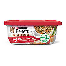 Purina® Beneful® Prepared Meals Dog Food - Beef & Chicken Medley with Green Beans, Carrots & Rice