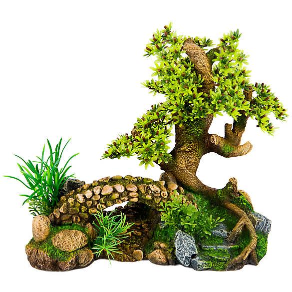 Top fin bonsai bridge aquarium ornament fish ornaments for Petsmart fish decor