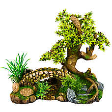 Top Fin® Bonsai Bridge Aquarium Ornament
