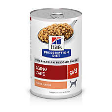 Hill's® Prescription Diet® g/d Aging Care Dog Food - Turkey