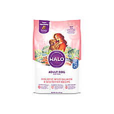 HALO®  DreamCoat Adult Dog Food - Natural, Holistic Wild Salmon & Whitefish Recipe