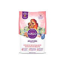 HALO®  DreamCoat Adult Dog Food - Natural, Holistic Wild Salmon & Whitefish Recipe