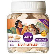 HALO®  Liv-a-Littles Grain-Free Chicken Breast Freeze-Dried Dog & Cat Treats, 2.2-oz