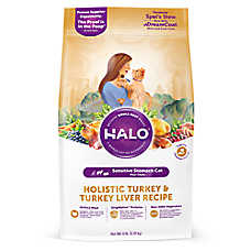 HALO® DreamCoat Sensitive Stomach Cat Food - Natural, Holistic Tureky & Turkey Liver Recipe