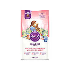 HALO® DreamCoat Adult Cat Food - Natural, Holistic Wild Salmon & Whitefish Recipe