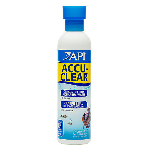 Api accu clear aquarium water clairifier fish water for Cloudy water in fish tank solutions