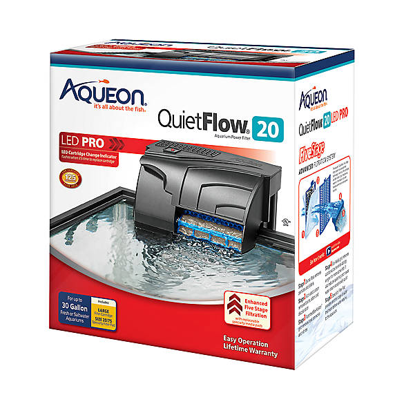 Aqueon quietflow aquarium power filter 20 fish filters for Petsmart fish tank filters