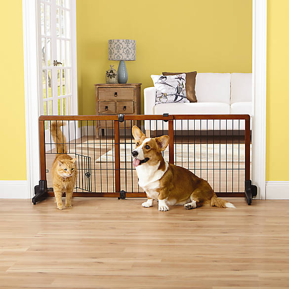 Top Paw 174 Adjustable Stand Alone Pet Gate Dog Dog Doors