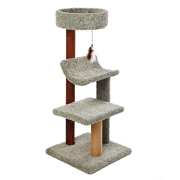 Whisker city cozy inn cat tree cat furniture towers for Fish furniture outlet