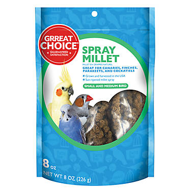 Grreat choice spray millet bird treat bird treats for Petsmart fish guarantee