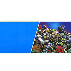 Marina® Reversible Reef & Blue Aquarium Background