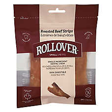 Rollover Roasted Beef Strips Premium Dog Treats