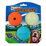 Chuckit!® Fetch Medley Ball Dog Toys - 3 Pack