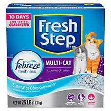 Fresh Step® with Febreze Multi-Cat Litter - Clumping