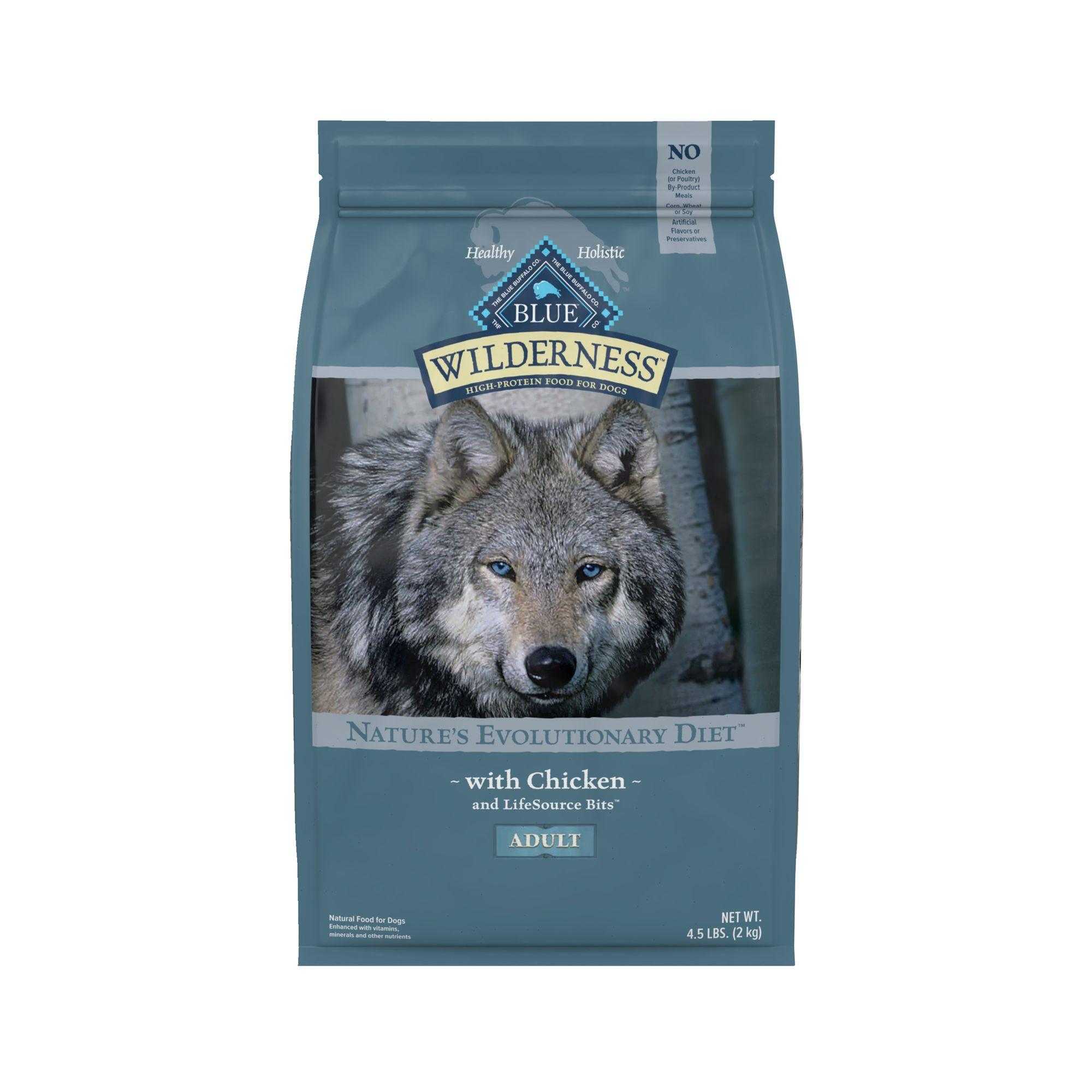 Blue Buffalo Wilderness Adult Dog Food Grain Free Natural Chicken