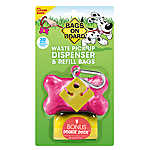 Bags on Board® Pink Bone Waste Pick Up Bag Dispenser