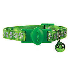 Whisker City® Paw Print Reflective Breakaway Cat Collar